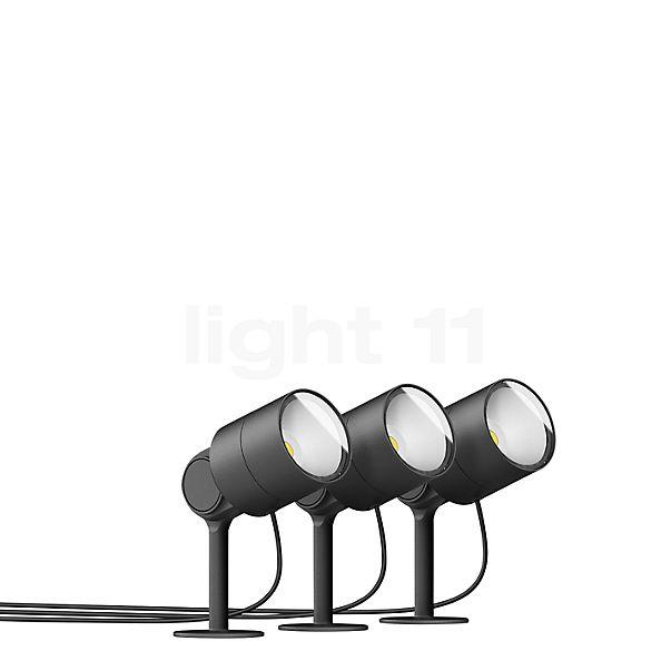 Bega Plug & Play 3er-Set Gartenscheinwerfer mit Erdspieß LED