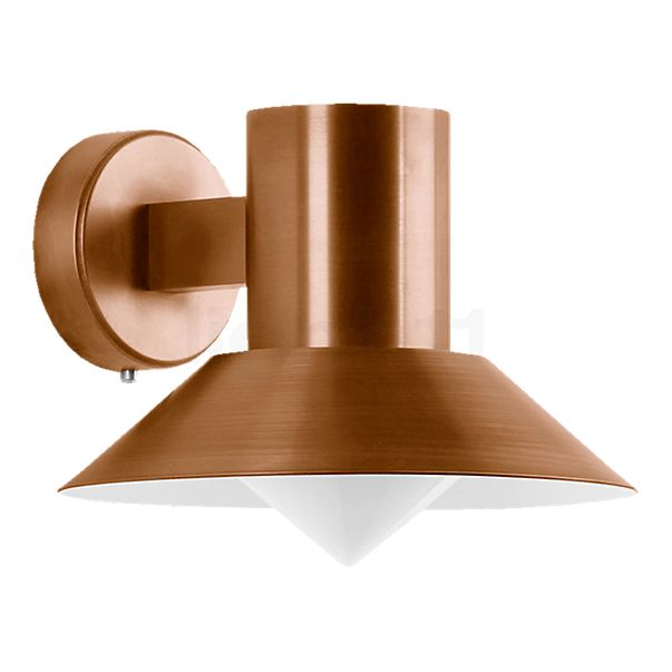 Bega Wall Light with Copper Lampshade, shielded