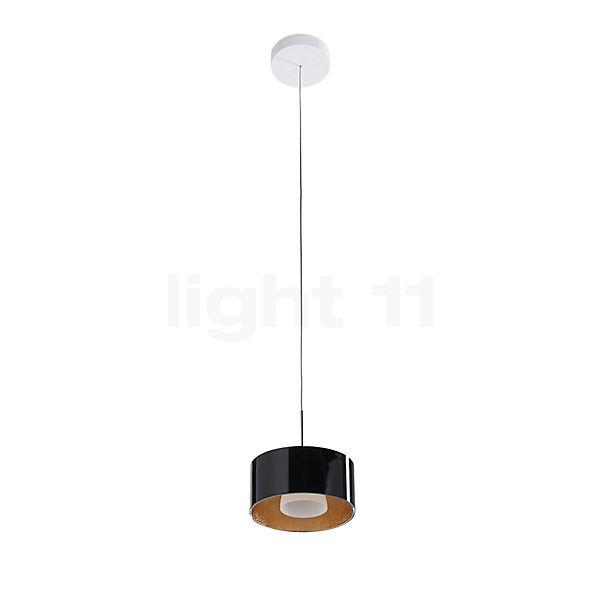Bruck Cantara Glas 190 Down Hanglamp LED dim2warm, chroom glanzend in 3D aanzicht voor meer details
