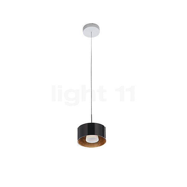 Bruck Cantara Glas 190 Down Pendant Light LED, chrome matt in the 3D viewing mode for a closer look
