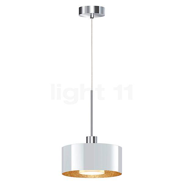 Bruck Cantara Glas 190 Down Pendelleuchte LED dim2warm, Chrom glänzend