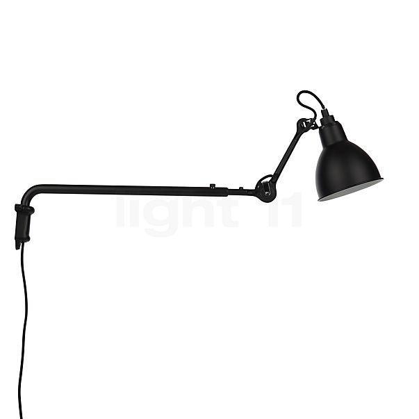 DCW Lampe Gras No 203 Wall light black in the 3D viewing mode for a closer look