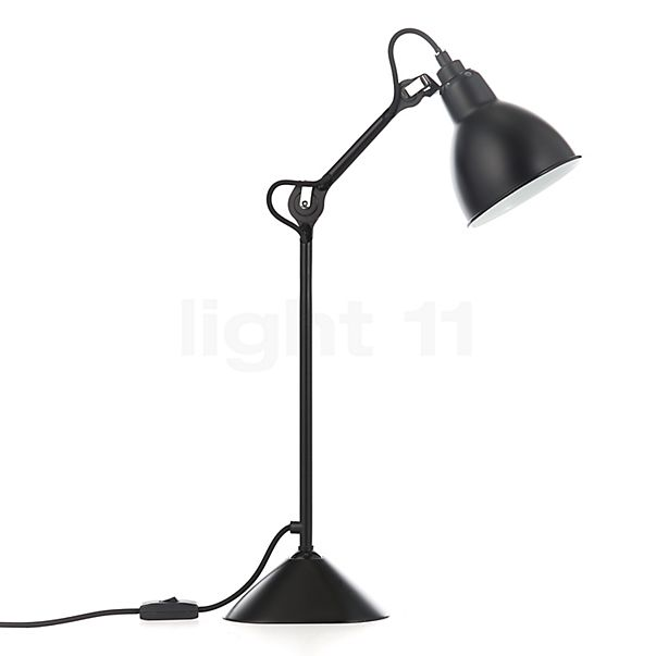DCW Lampe Gras No 205 Table lamp black in the 3D viewing mode for a closer look