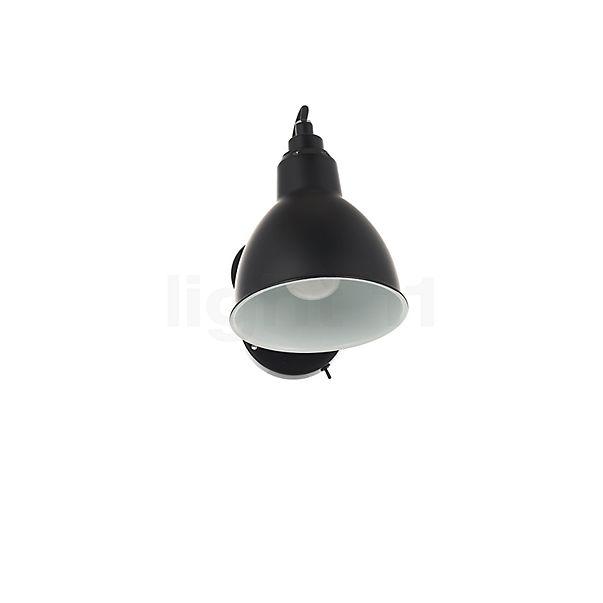DCW Lampe Gras No 304 SW Wandlamp zwart in 3D aanzicht voor meer details