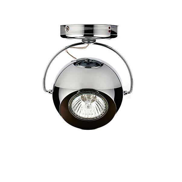 Fabbian Beluga Steel Plafond-/Wandlamp in 3D aanzicht voor meer details