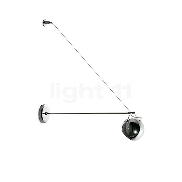 Fabbian Beluga Steel wall light