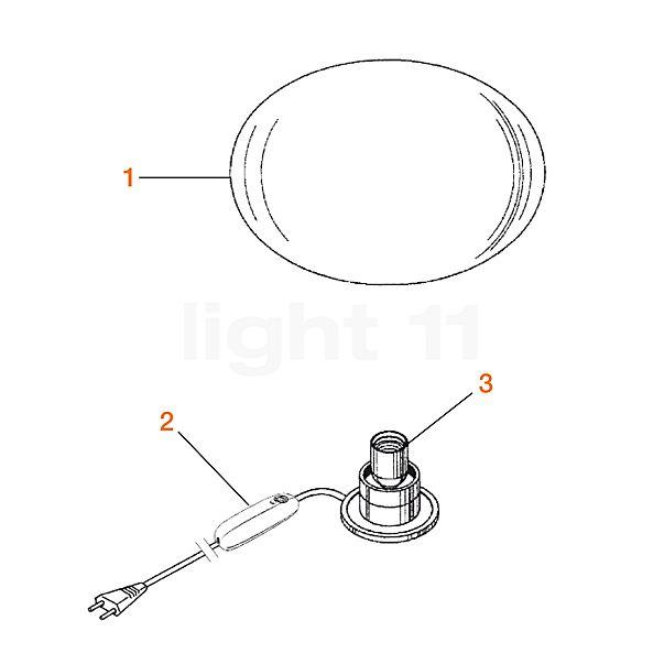 Flos Ersatzteile für Glo-Ball Basic 2