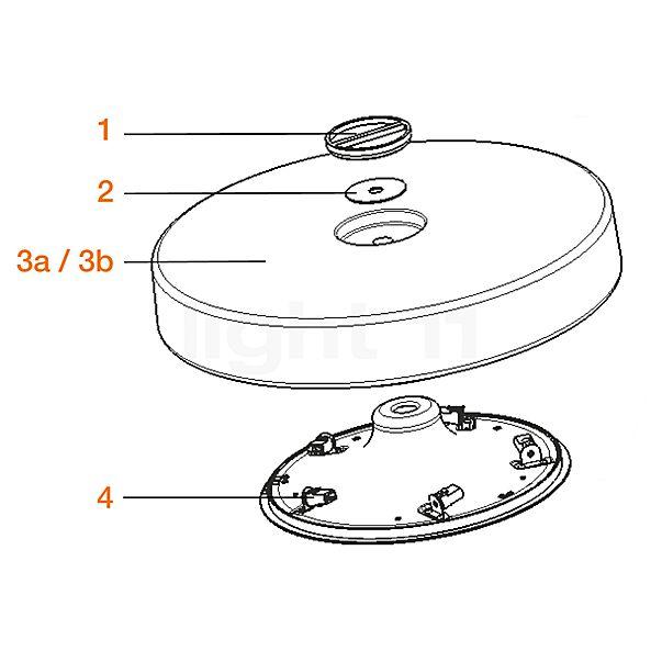 Flos Reserveonderdelen voor Button HL