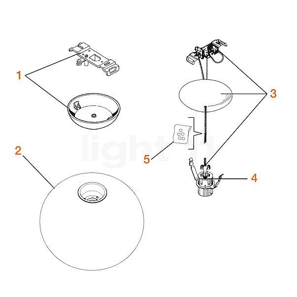 Flos Reserveonderdelen voor Glo-Ball S1