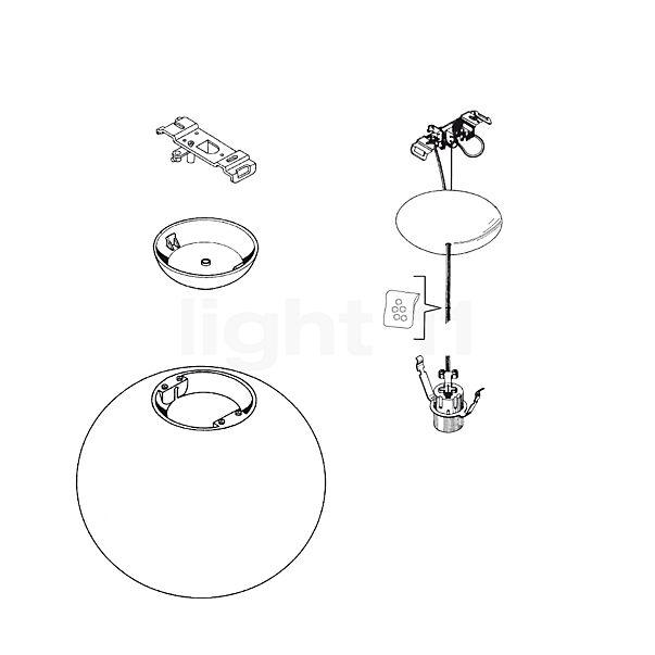 Flos Reserveonderdelen voor Glo-Ball S2