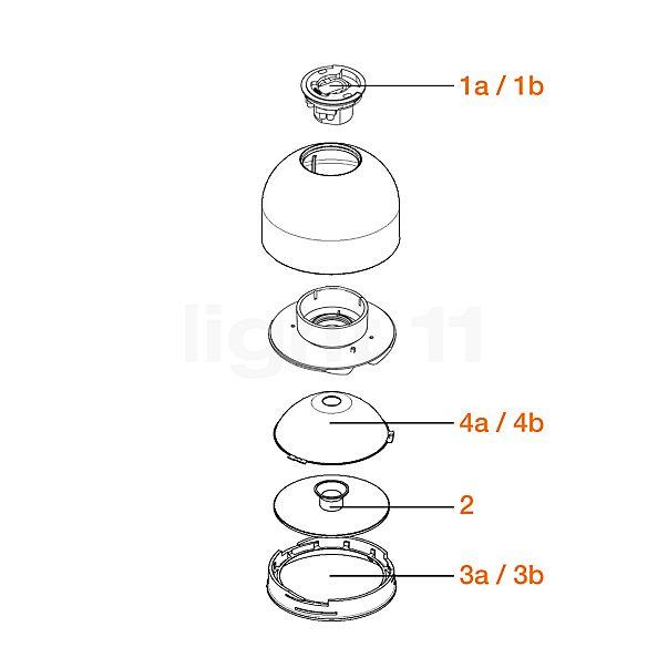 Flos Reserveonderdelen voor Wan Plafond-/Wandlamp
