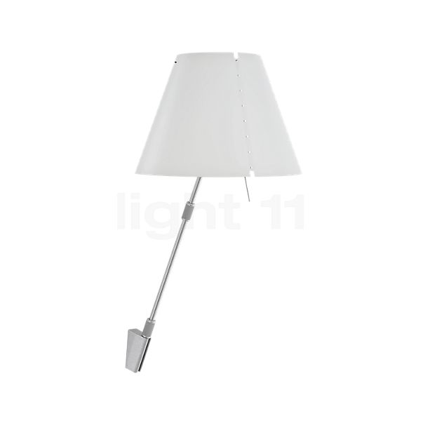 Luceplan Costanza Parete with Telescopic Aluminium Stem and Touch Dimmer