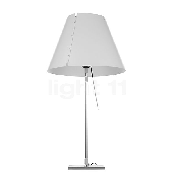 Luceplan Costanza Tavolo LED, aluminium in the 3D viewing mode for a closer look