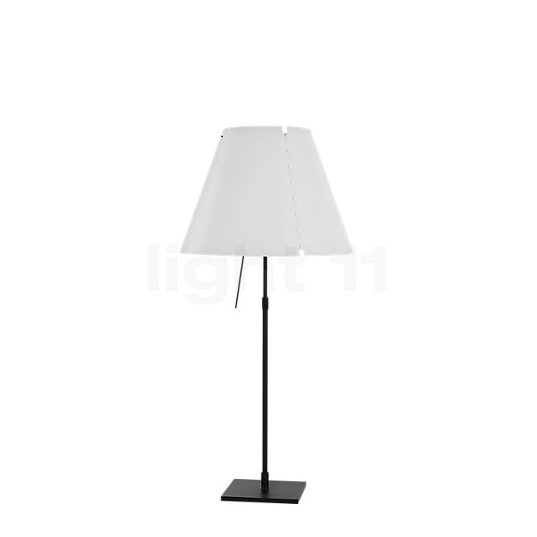 Luceplan Costanza Tavolo with Black Telescopic Stem and Touch Dimmer