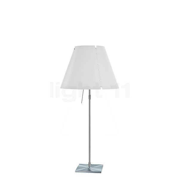 Luceplan Costanza Tavolo with Telescopic Aluminium Stem and Touch Dimmer