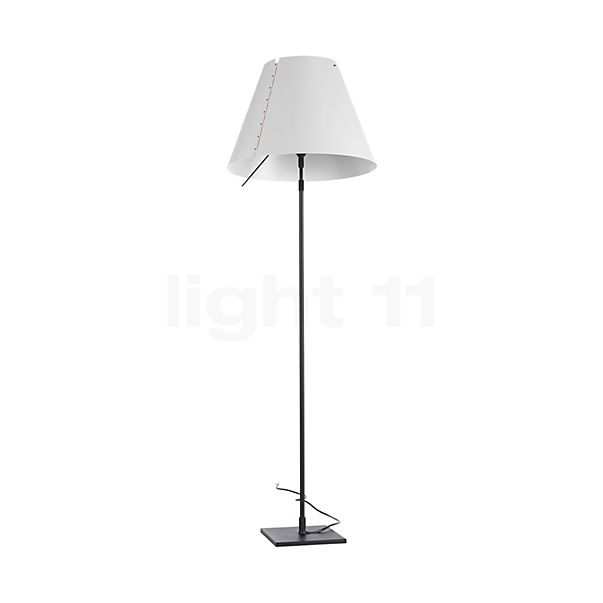 Luceplan Costanza Terra with Black Telescopic Stem and Touch Dimmer in the 3D viewing mode for a closer look