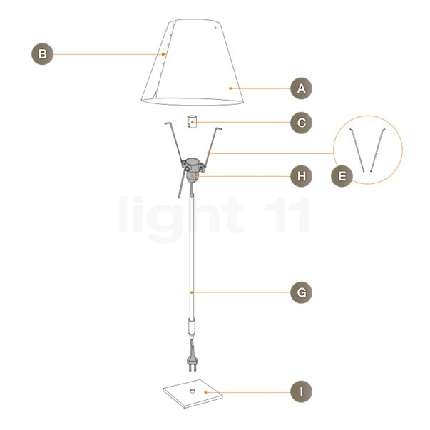 Luceplan Spare Parts for Costanzina Tavolo