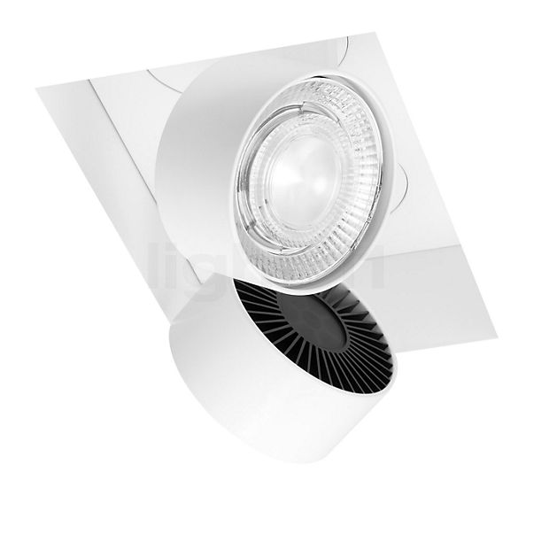 Mawa Wittenberg 4.0 recessed Ceiling Light angular flush with two spots LED excl. transformer