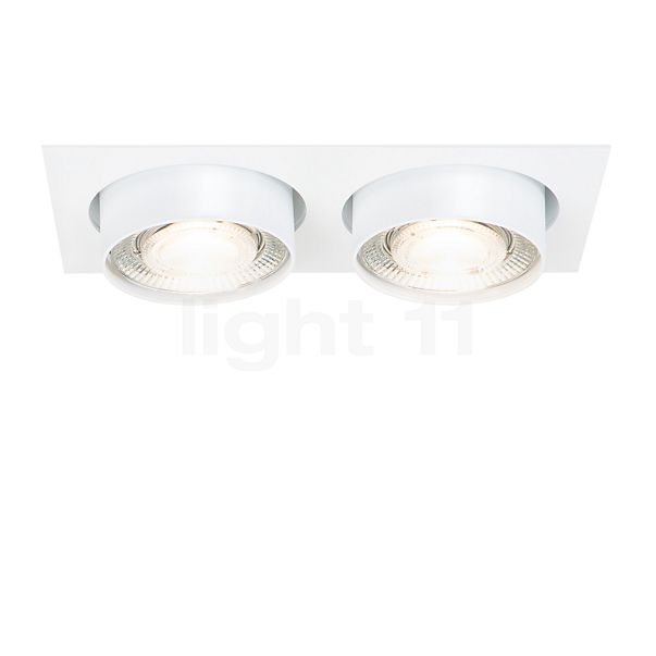 Mawa Wittenberg 4.0 recessed Ceiling Light angular with two spots LED incl. transformer