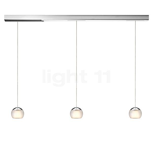 Oligo Balino Suspension 3 foyers LED, avec réglage en hauteur invisible