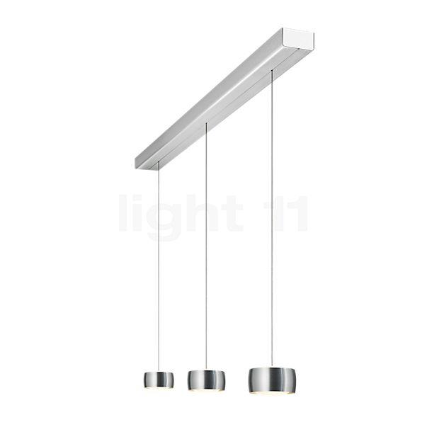 Oligo Grace Lampada a sospensione 3 fuochi LED con regolazione in altezza invisibile