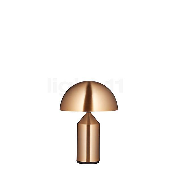 Oluce Atollo, lámpara de sobremesa en metal dorado
