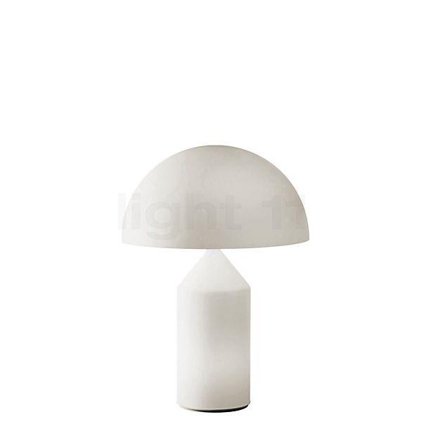 Oluce Atollo, lámpara de sobremesa en vidrio opalino
