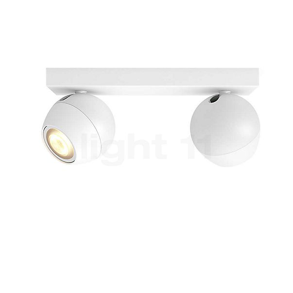 Philips Hue White Ambiance Buckram Spot 2-flamme + Dim Switch