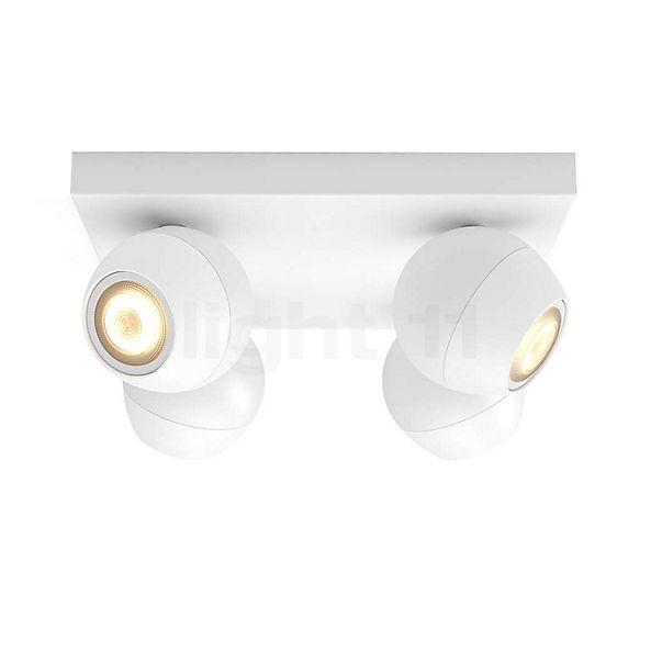 Philips Hue White Ambiance Buckram Spot 4 foyers + Dim Switch