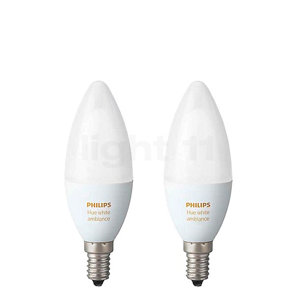 Philips Hue White Ambiance Doppelpack, E14