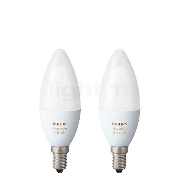 Philips Hue White and Color Ambiance Doppelpack, E14