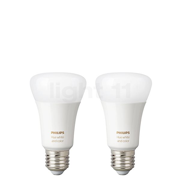 Philips Hue White and Color Ambiance Doppelpack, E27