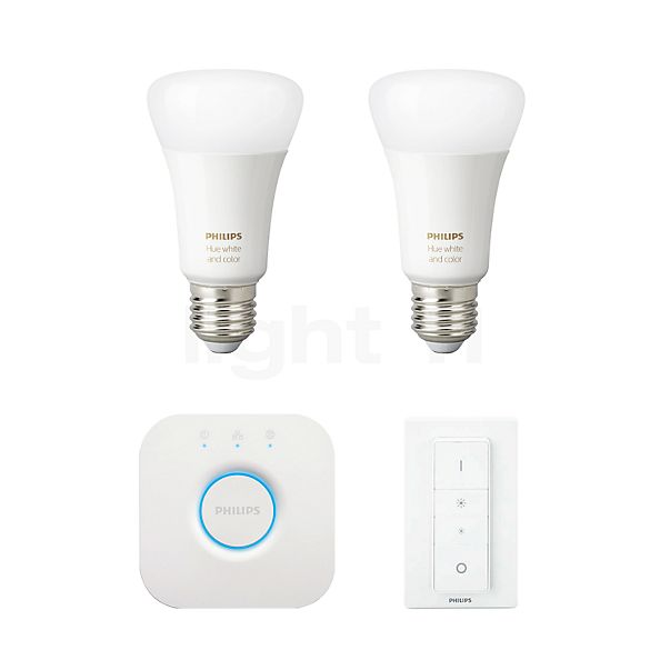 Philips Hue White and Color Ambiance E27 2er Starter Set