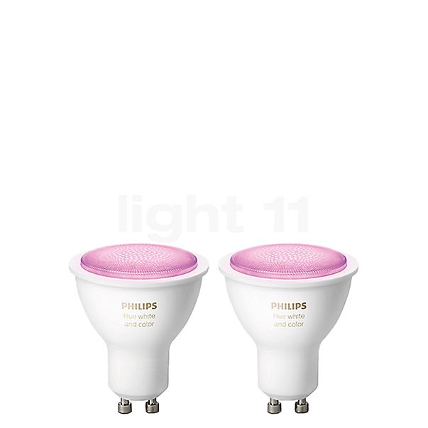 Philips Hue White and Color Ambiance GU10 Doppelpack