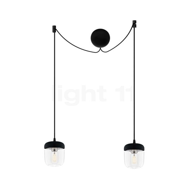UMAGE Acorn Cannonball Hanglamp 2-lichts zwart