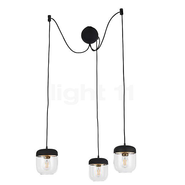 UMAGE Acorn Cannonball Hanglamp 3-lichts zwart in 3D aanzicht voor meer details