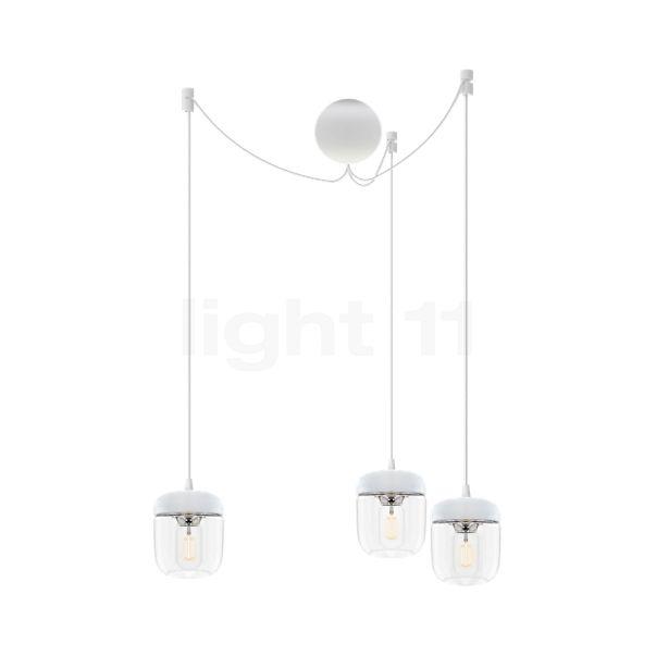 UMAGE Acorn Cannonball, lámpara de suspensión con 3 focos en blanco