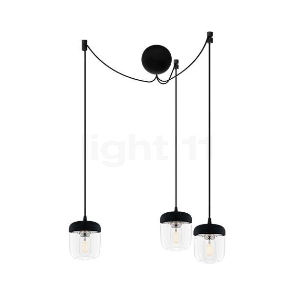 UMAGE Acorn Cannonball, lámpara de suspensión con 3 focos en negro