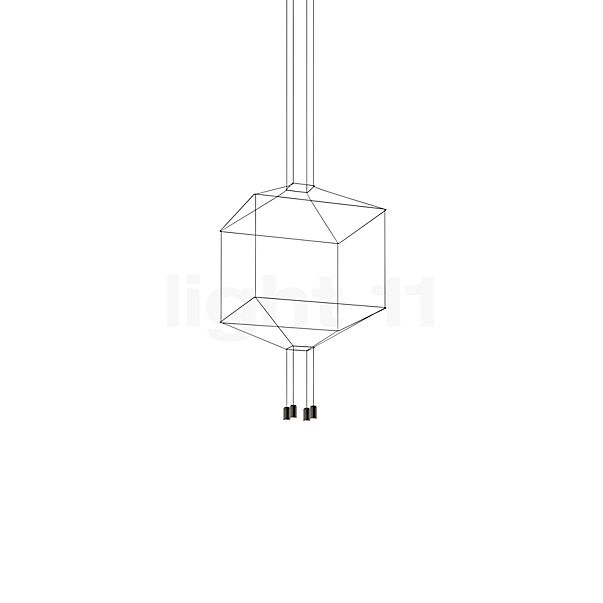 Vibia Wireflow Pendant Light with 4 lamps without Glass Diffusers