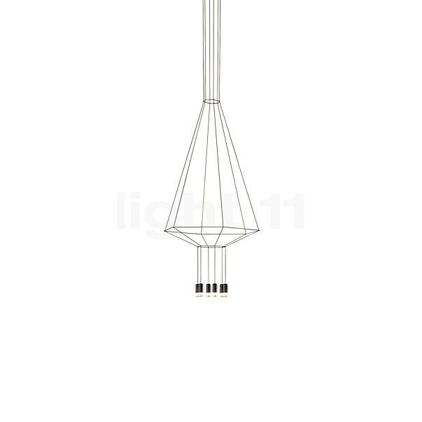 vibia wireflow pendelleuchte 6 flammig mit glasdiffusoren. Black Bedroom Furniture Sets. Home Design Ideas