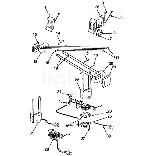artemide ersatzteile f r tizio 50 wei. Black Bedroom Furniture Sets. Home Design Ideas