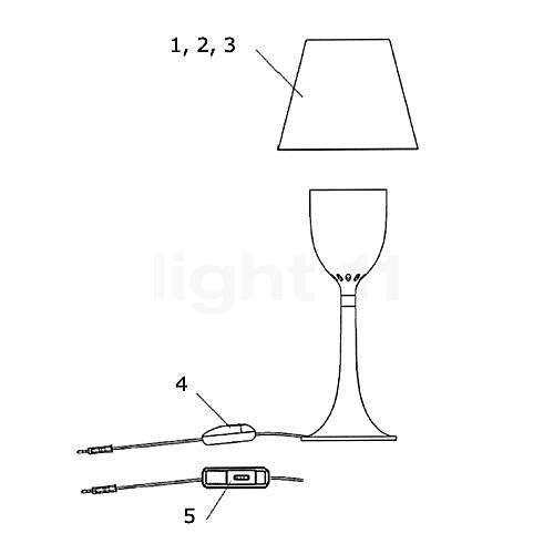 flos ersatzteile f r miss k kaufen bei. Black Bedroom Furniture Sets. Home Design Ideas
